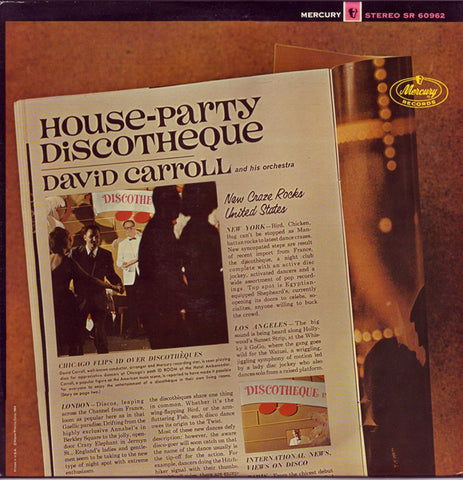 David Carroll And His Orchestra ‎– House-Party Discotheque (1964) Cheap Vinyl Record