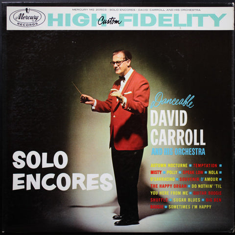 David Carroll ‎– Solo Encores (?) Cheap Vinyl Record