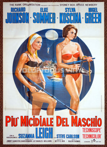 Deadlier Than The Male (1967) - Italian 2F - Elke Sommer & Sylva Koscina Bikini Spy Babes!