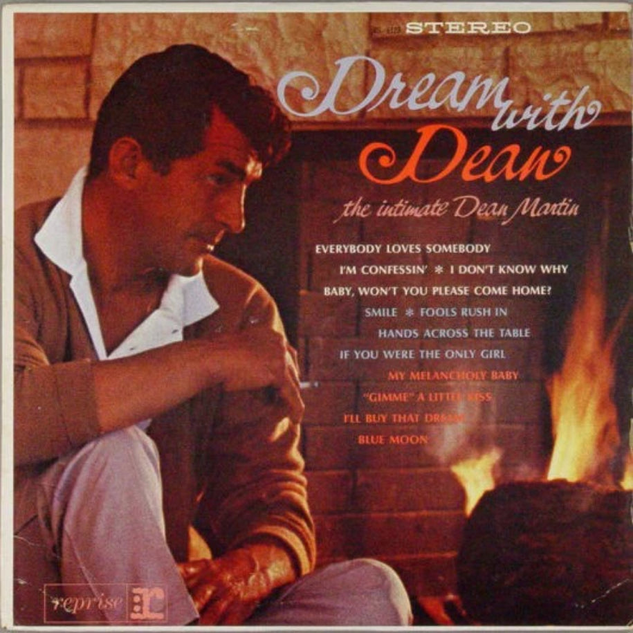 Dean Martin ‎– Dream With Dean - The Intimate Dean Martin vinyl record front cover