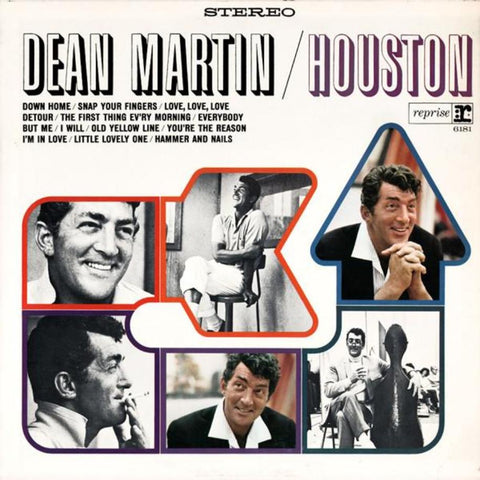 Dean Martin ‎– Houston vinyl record front cover