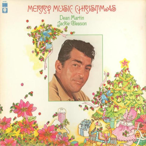 Dean Martin, Jackie Gleason ‎– Merry Music Christmas vinyl record front cover