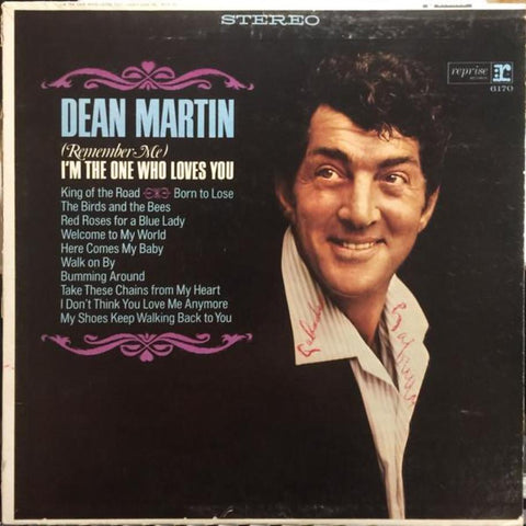 Dean Martin ‎– (Remember Me) I'm The One Who Loves You vinyl record front cover