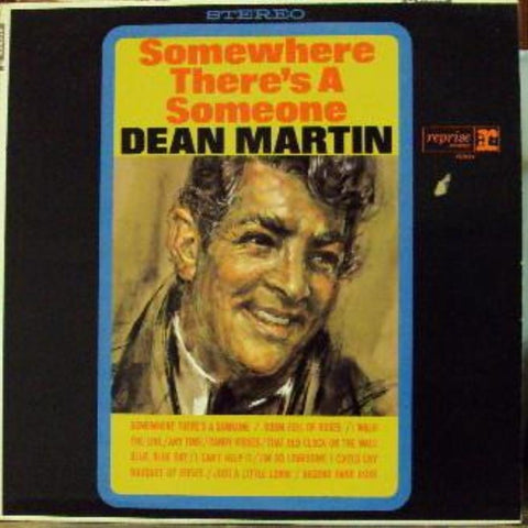 Dean Martin ‎– Somewhere There's A Someone vinyl record front cover