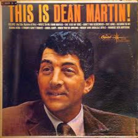 Dean Martin ‎– This Is Dean Martin! vinyl record front cover