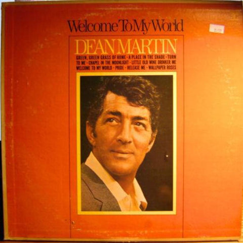 Dean Martin ‎– Welcome To My World vinyl record front cover