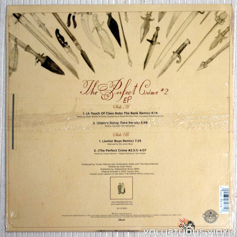 The Decemberists ‎– The Perfect Crime #2 - Vinyl Record - Back Cover