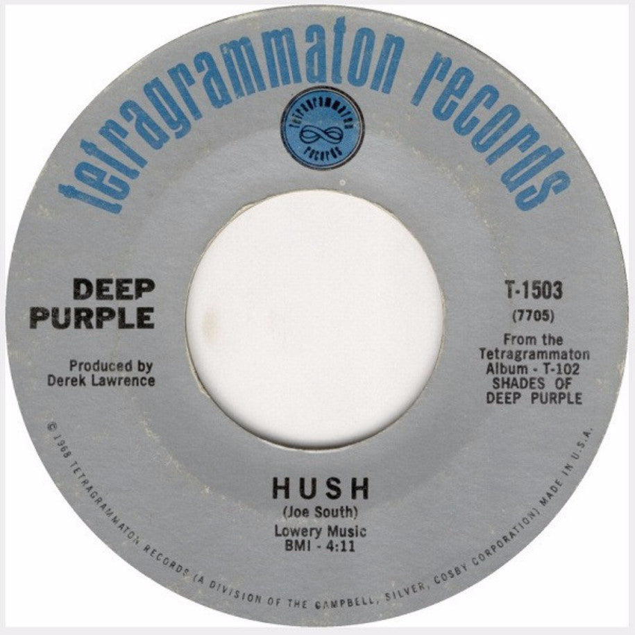 Deep Purple ‎– Hush / One More Rainy Day - Vinyl Record - Single