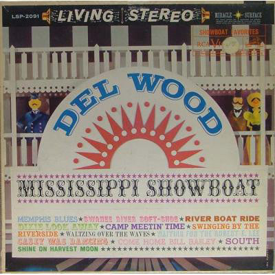 Del Wood ‎– Mississippi Showboat (1959) Vinyl Record