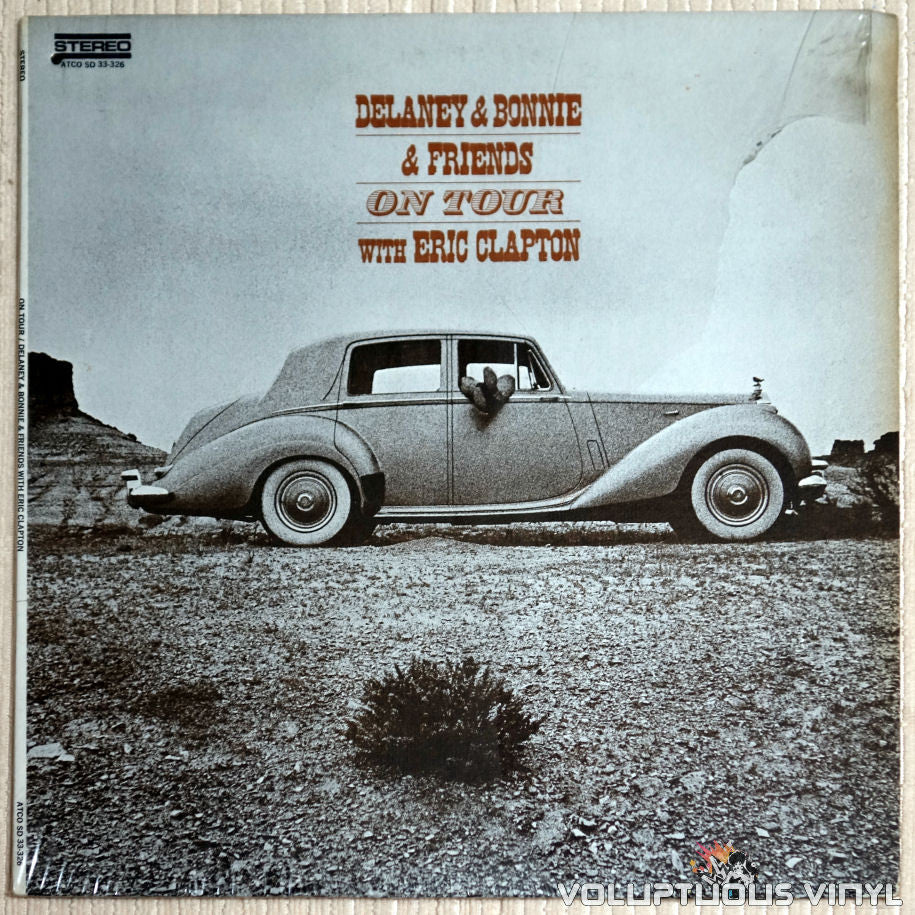 Delaney & Bonnie & Friends With Eric Clapton ‎– On Tour - Vinyl Record - Front Cover
