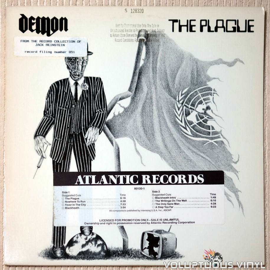 Demon ‎– The Plague - Vinyl Record - Front Cover