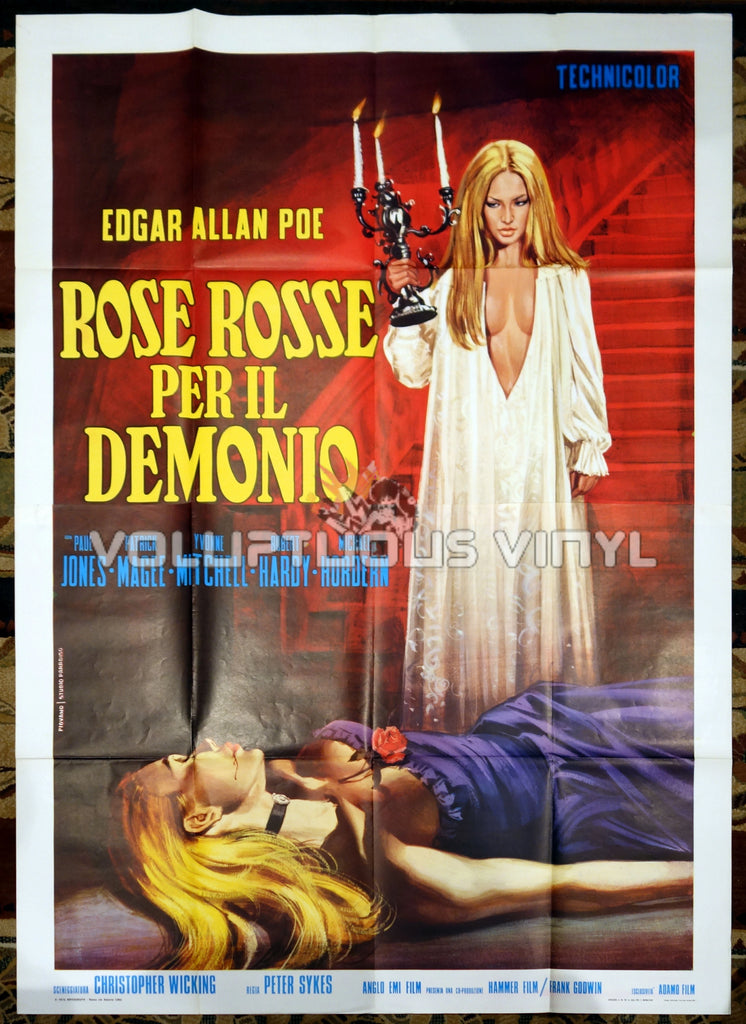 Demons Of The Mind Italian movie poster Gothic babes