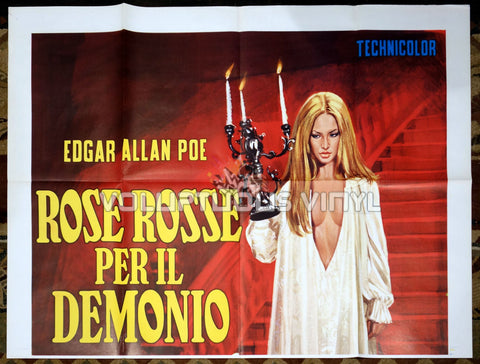 Demons Of The Mind Italian movie poster Gothic babes top half