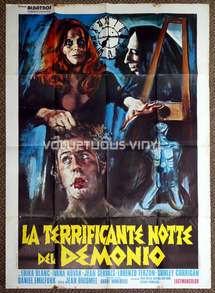 The Devil's Nightmare 1972 Italian Poster - Erika Blanc Holds Severed Head
