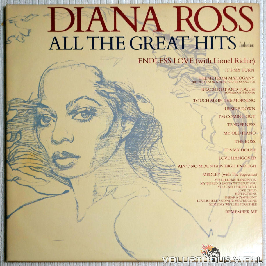 Diana Ross ‎– All The Great Hits - Vinyl Record - Front Cover