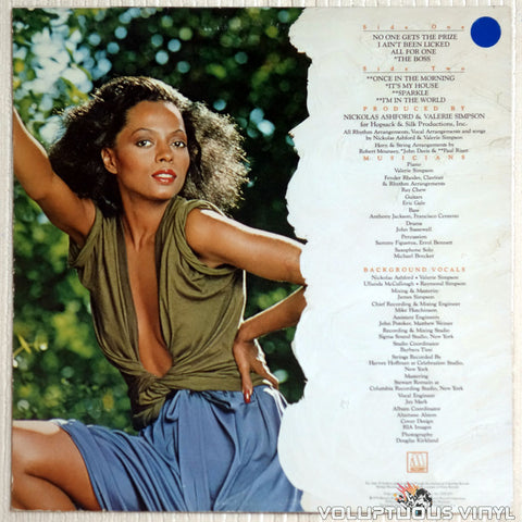 Diana Ross ‎– The Boss - Vinyl Record - Back Cover