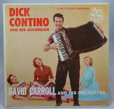 David Carroll & His Orchestra ‎– Dick Contino And His Accordion (?) Cheap Vinyl Record