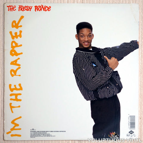 DJ Jazzy Jeff & The Fresh Prince ‎– He's The DJ, I'm The Rapper - Vinyl Record - Back Cover