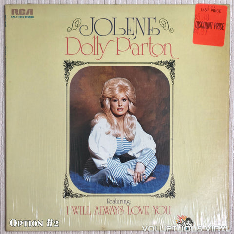 Dolly Parton ‎– Jolene - Vinyl Record - Front Cover