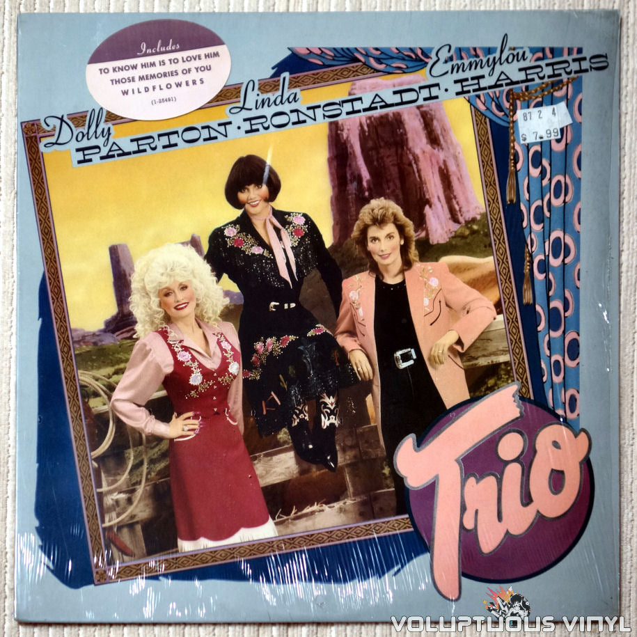 Dolly Parton, Linda Ronstadt & Emmylou Harris ‎– Trio - Vinyl Record - Front Cover