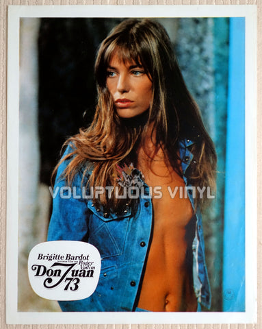 Don Juan (1973) - German Lobby Card - Jane Birkin & Brigitte Bardot Steamy French Drama