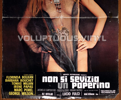 Don't Torture A Duckling - Sexy Nude Barbara Bouchet - Original Movie Poster Bottom Half