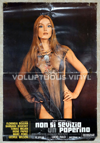 Don't Torture A Duckling - Sexy Nude Barbara Bouchet - Original Movie Poster
