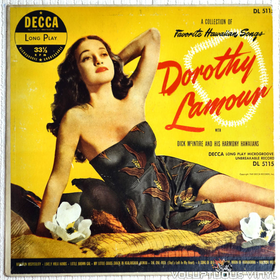 Dorothy Lamour - A Collection Of Favorite Hawaiian Songs - Vinyl Record - Front Cover