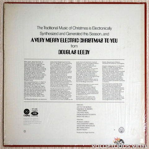 Douglas Leedy ‎– A Very Merry Electric Christmas To You! - Vinyl Record - Back Cover