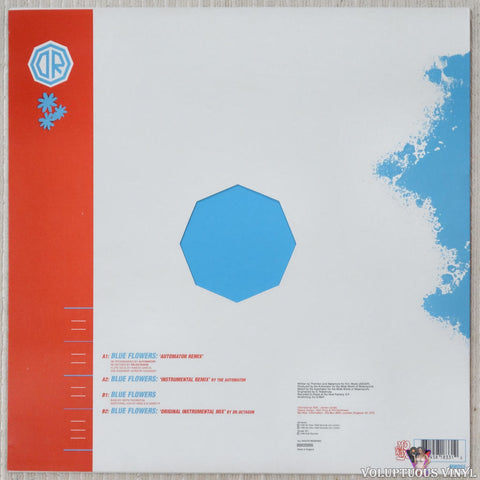 Dr. Octagon ‎– Blue Flowers vinyl record back cover