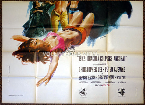 Dracula A.D. 1972 Italian 4F Poster - Bottom Half - Hot Hippie Chick