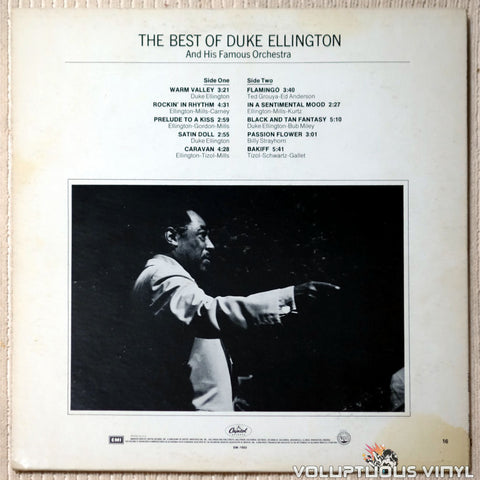 Duke Ellington And His Famous Orchestra ‎– The Best Of Duke Ellington And His Famous Orchestra vinyl record back cover