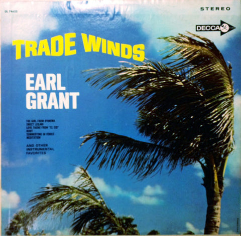Earl Grant ‎– Trade Winds (1965) Cheap Vinyl Record