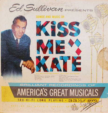 "Ed Sullivan Presents Songs And Music Of ""Kiss Me Kate"" (1960) Cheap Vinyl Record"