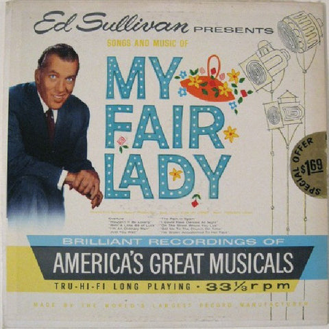Ed Sullivan Presents Songs And Music Of My Fair Lady (1959) Cheap Vinyl Record