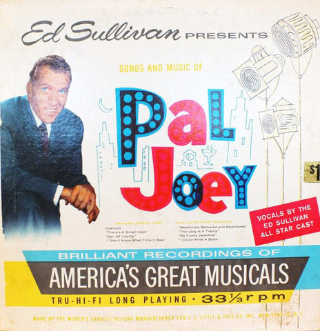 Ed Sullivan Presents Songs And Music Of Pal Joey (1959) Cheap Vinyl Record