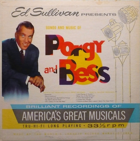 Ed Sullivan Presents Porgy And Bess (1959) Cheap Vinyl Record