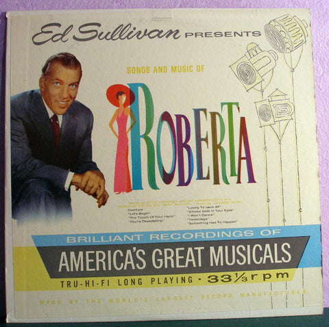 Ed Sullivan Presents Song & Music Of Roberta (1959) Cheap Vinyl Record