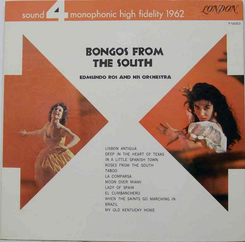 Edmundo Ros And His Orchestra ‎– Bongos From The South (1962) Cheap Vinyl Record