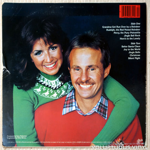 Elmo & Patsy ‎– Grandma Got Run Over By A Reindeer vinyl record back cover