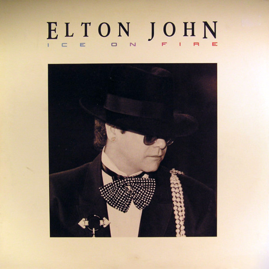 Elton John ‎– Ice On Fire - Vinyl Record - Front Cover