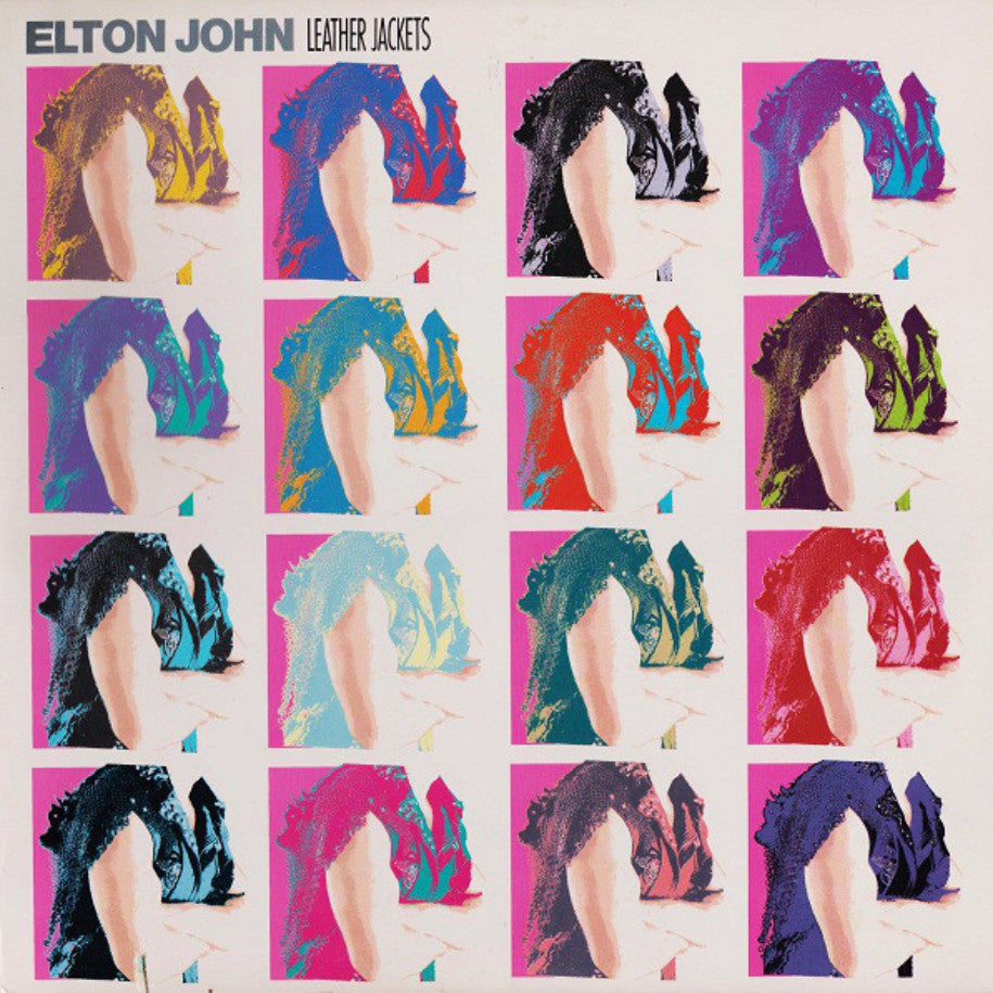 Elton John ‎– Leather Jackets - Vinyl Record - Front Cover