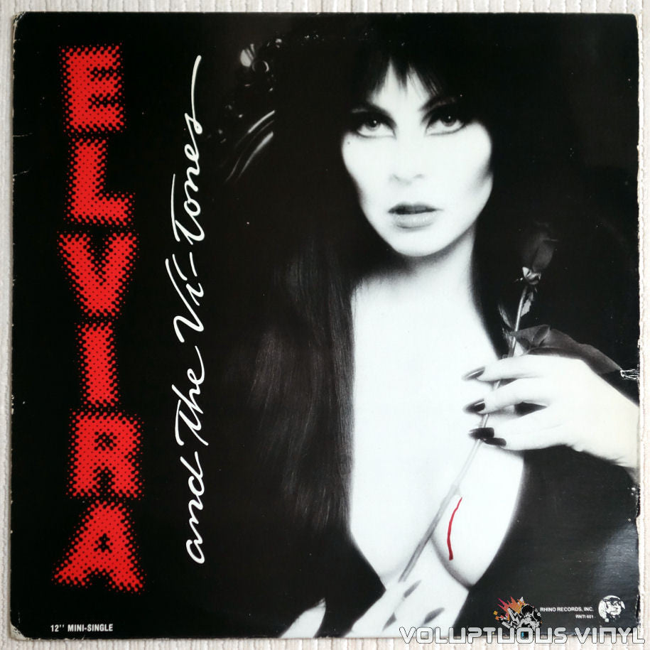 Elvira and The Vi-Tones ‎– 3-D TV - Vinyl Record - Sexy Cleavage Front Cover