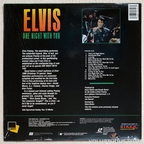 Elvis: One Night with You - Laserdisc- Back Cover