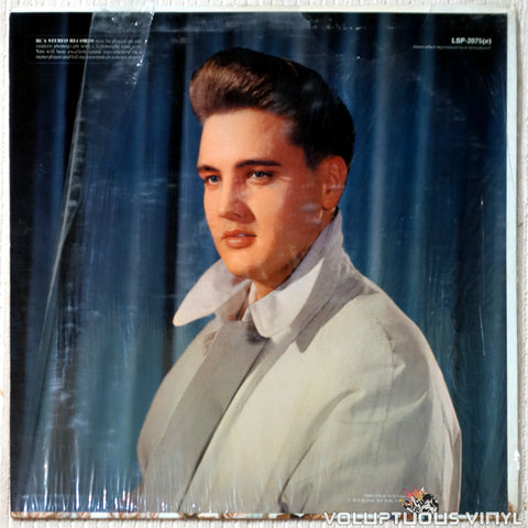 Elvis Presley ‎– 50,000,000 Elvis Fans Can't Be Wrong vinyl record back cover