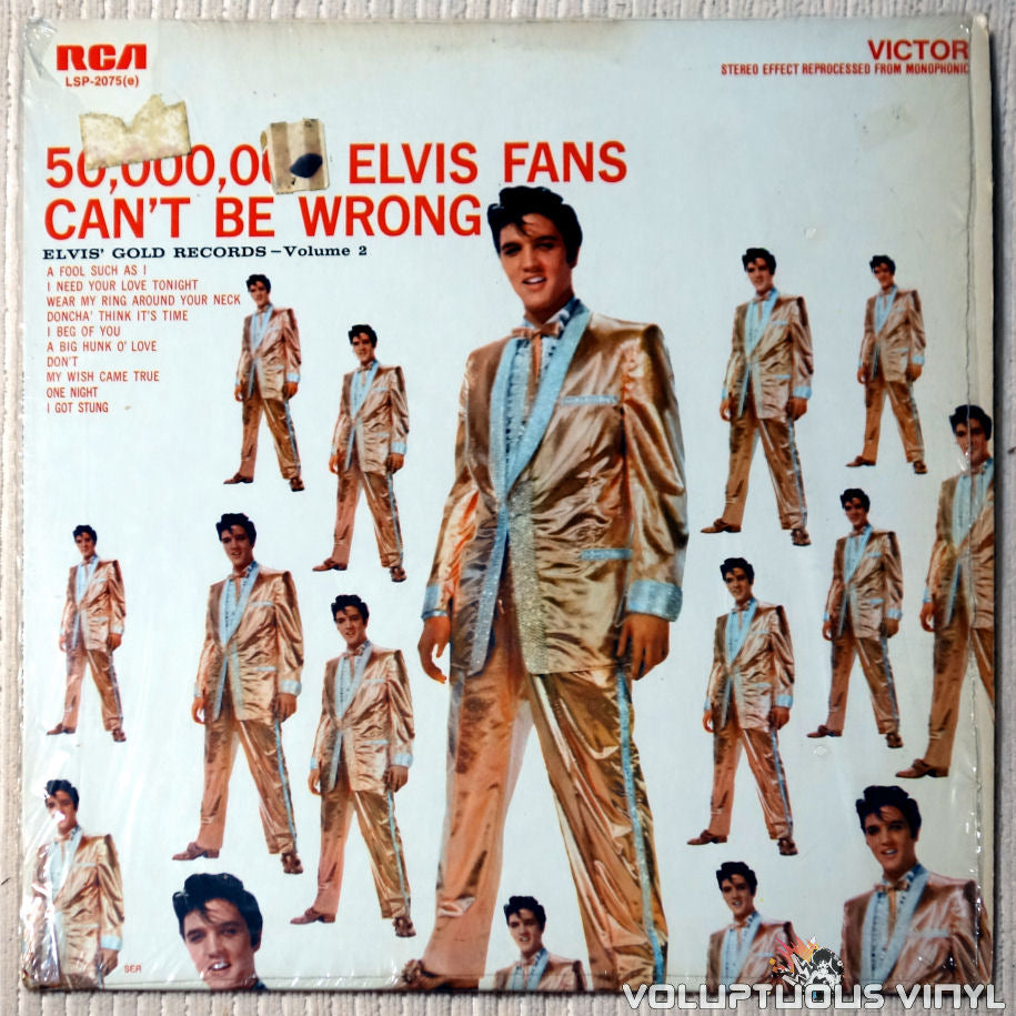 Elvis Presley ‎– 50,000,000 Elvis Fans Can't Be Wrong vinyl record front cover