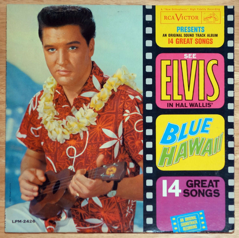 Elvis Presley ‎Blue Hawaii Vinyl Record Front Cover