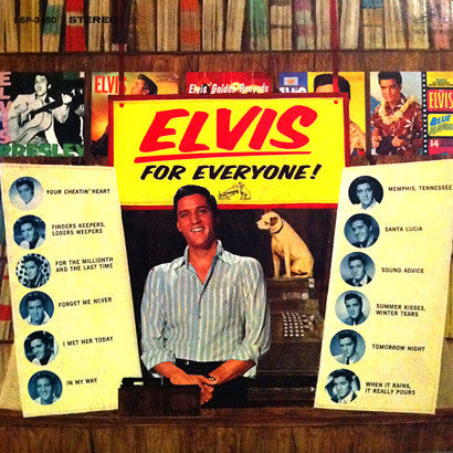 Elvis Presley ‎– Elvis For Everyone! (1977) Cheap Vinyl Record