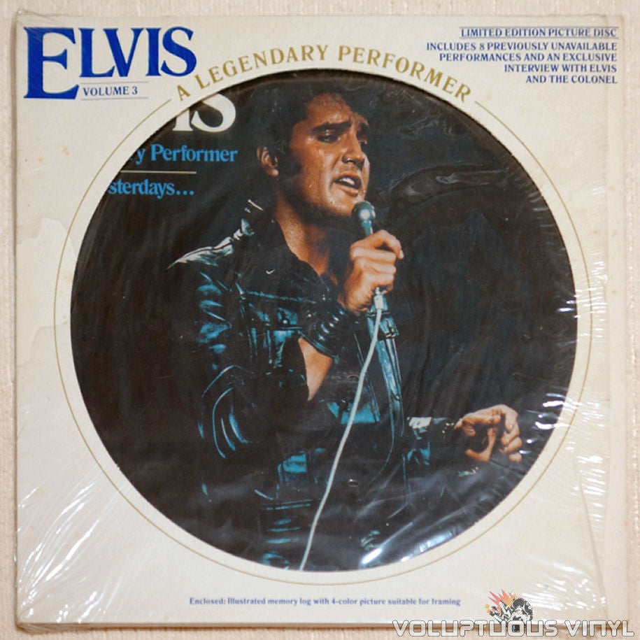 Elvis Presley ‎– A Legendary Performer - Volume 3 - Vinyl Record - Front Cover