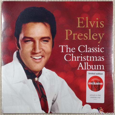 Elvis Presley ‎– The Classic Christmas Album vinyl record front cover